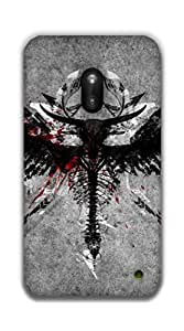 The Racoon Grip Angel warrior hard plastic printed back case / cover for Nokia Lumia 620