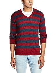 Proline Men's Acrylic Sweater (8907007142837_PC09018_Large_Maroon Marl)