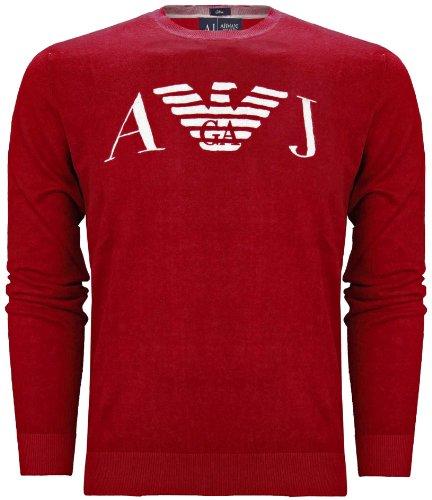 Armani Jeans Men's Knitted Slim Fit Jumper Red (XXXL)