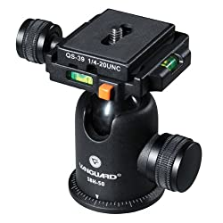 Vanguard SBH-50 Ball Head with QS-39 x 2 Quick Shoe