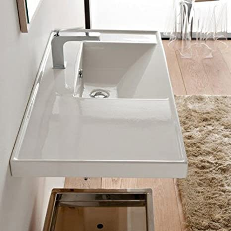 "Scarabeo Scarabeo 3009-No Hole No Hole Bathroom Sink, 50"" L x 36.2"" W"