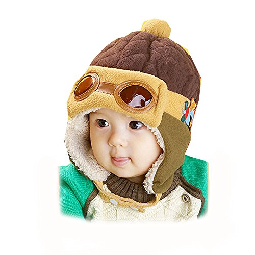 Syyeah Baby Ear Protector Cap Baby Girl Hats Fashion Pilot Cap