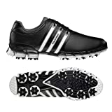 adidas Men's Tour 360 ATV M1 Golf Shoe,Black/White/Dark Silver Metallic,11 M US
