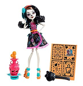 .com: Monster High Art Class Skelita Calaveras Doll: Toys & Games