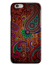 Vintage Paisley Mosiac Wooden Pattern 3D Printed Design iPhone 6 Hard Case Protective Cover Shell