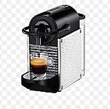 Nespresso D60 Pixie Espresso Maker, Chrome with Steel Dots