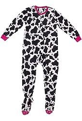 Komar Kids Big Girls' Cow Footed Pajamas
