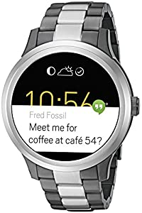 Fossil Q Founder Unisex Two-Tone Gunmetal and Stainless Steel Touchscreen Smartwatch