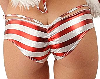 Amazon.com: Sexy Christmas Candy Cane Booty Short and G-string set