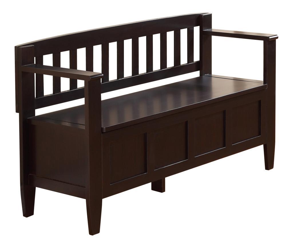 Simpli home brooklyn entryway storage bench for Foyer storage bench