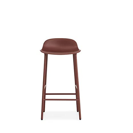 Normann Form Barstool Steel - Low - Seat height: 65 cm, Red