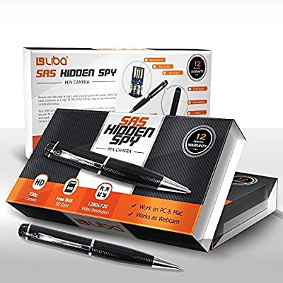 LiBa 720P SAS Hidden Spy Pen Camera with 8GB SD Card