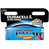 Duracell AAA Ultra Alkaline Batteries - 12 Pack (LR03, Mini Stilo, MX2400)