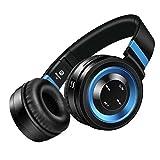 SOUND INTONE ブルーツース4.0 ワイヤレス ステレオヘッドホン ハイファイ ノイズキャンセリング インラインマイク付き ボリュームコントロール オーディオケーブル付き スマートホン/PC/TV/IPHONE/SAMSUNG/LAPTOP P6  (Black/Blue)