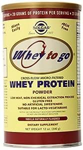 Solgar - WEY TO GO Protéines Vanille Naturelle - 340 gr