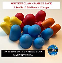 Writing CLAW- Sample Pack- (2 Smalls- 2 Mediums -2 Large)