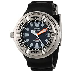 Đồng Hồ Nam Citizen BJ8050-08E Eco-Drive Professional Diver Black Rubber Strap Watch