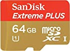 SanDisk EXTREME PLUS (80MB/S) Android SDXC Capable 64GB MicroSDXC Card is Custom formatted for high speed flawless data transfer while providing absolutely no loss or delayed recording times! Professional Standard SD Adapter Included. (Up to 80MB/s Read, 533X, Up to 50MB/s Write, UHS-1)