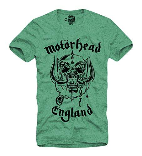 "E1SYNDICATE ""Motörhead"" T-SHIRT S/M/L/XL LEMMY KILMISTER MOTORHEAD GREEN"