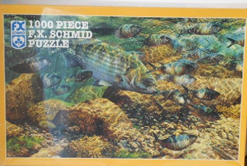 F.x. Schmid 1000 Jigsaw Puzzle Cornered Striped Bass - 1