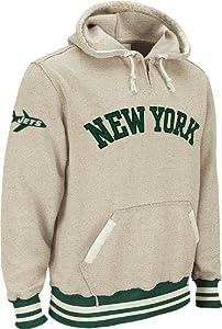 New York Jets Reebok Vintage Ash 1 4 Zip Throwback Hooded Sweatshirt by Reebok