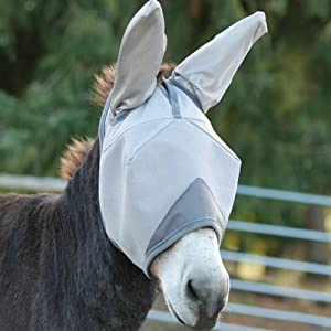 CASHEL CRUSADER FLY MASK - MULE DONKEY STANDARD WITH EARS - ALL SIZES (Yearling / Large Pony)