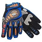 Mongoose Full Finger Bike Racing Gloves Blue Youth Medium / Large BMX