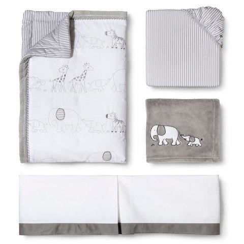 Circo Two by Two 4pc Crib Bedding Set - 1