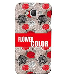 Fuson 3D Printed Color Flower Designer back case cover for Samsung Galaxy Grand 3 - D4237