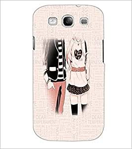 PrintDhaba Couple D-3199 Back Case Cover for SAMSUNG GALAXY S3 (Multi-Coloured)