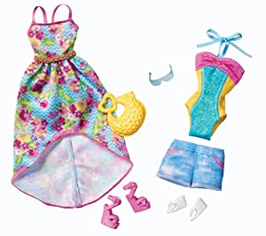 Amazon.com: Barbie Day Looks Beach Day Fashion Pack: Toys
