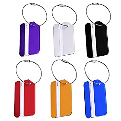Mudder Metal Travel Luggage Baggage Labels Suitcase ID Tags Labels