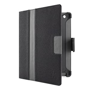 Belkin Cinema Stripe Folio Case with Stand for the Apple 4th/3rd Generation and iPad 2 (Black/Grey) by Belkin Components