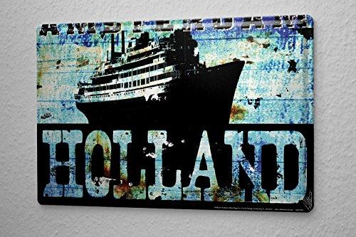 Blechschild M. A. Allen Retro Amsterdam Holland Kreuzfahrt Nostalgie Deko 20x30 cm