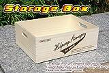 ストレージボックス M 【ワイン木箱】取っ手付木箱 -