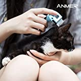 ANMER Pet Grooming Shedding Trimming Brush Tool (Pack of 3 Blades, Small, Medium and Big) for Small, Medium & Large Cats and Dogs - Stainless Steel Material without Harmful to Pets - Blue Color
