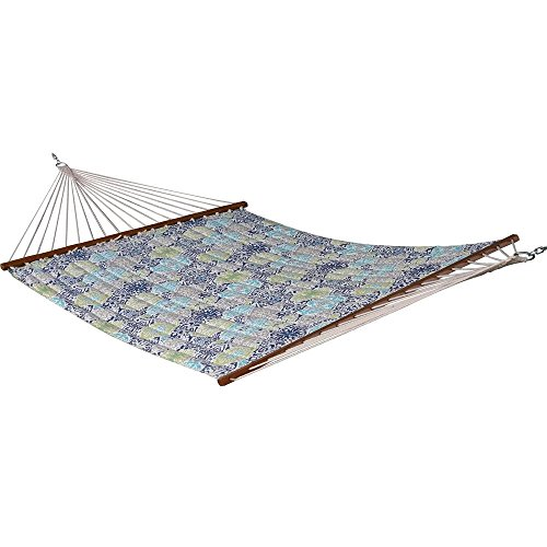 13 ft. Quilted Fabric Polyester Double Hammock in Pacifica