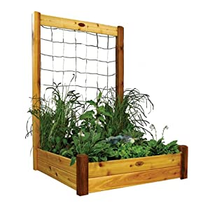 Gronomics RGBTK4848 Raised Garden Bed, 48 by 48 by 13-Inch with 48 by 80-Inch Trellis Kit