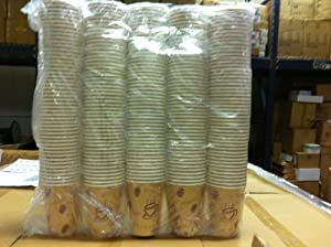 12 Oz Hot Paper Coffee Cups- 250 Cups) Poly Coated, Insulated- Hold Hot Tea Longer-Green Collection