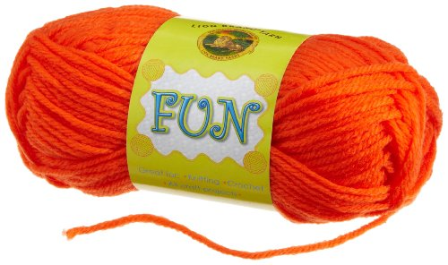 Bulk Buy: Lion Brand Fun Yarn Orange 99-133 (10-Pack)