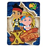 Disney Jake and the Neverland Pirates Micro Raschel Throw Blanket 46 X 60 X Marks the Spot