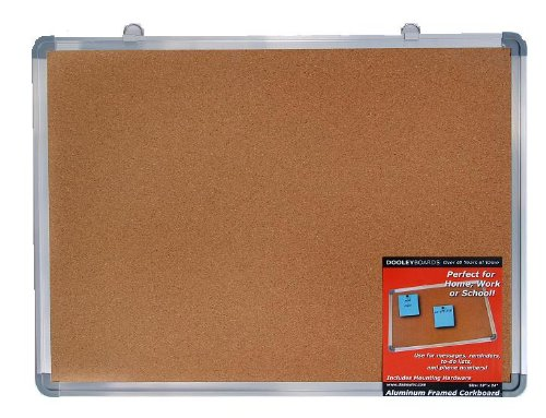 Dooley Boards Aluminum Framed Cork Board, 18 x 24 Inch, Silver (1824COA)