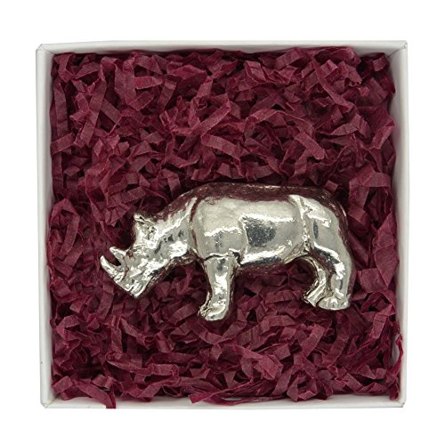 wwf-handcast-pewter-black-rhino-in-presentation-box-help-raise-funds-for-the-world-wildlife-fund-by-