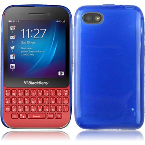 Cell Accessories For Less (Tm) For Blackberry Q5 Frosted Tpu Cover Case - Blue - By Thetargetbuys *Free Shipping*