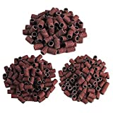 FlyItem 300pcs 80# 120# 180# Options Nail Dedicated Sanding Ring Bands Grinding Head Polisher Essential Supplies Sand Circle For Nail Drill File Machine Manicure Tool