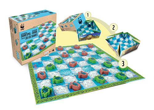 WWF - Damas de Tortugas, juego de tablero (983)
