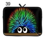 TaylorHe Funda de neopreno para portátil (15,6/39 cm) Laptop Sleeve con bolsillos laterales para accesorios Samsung/Acer/Toshiba/Macbook, diseño de remolinos de erizo, colorido
