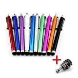 Hot selling 10 X New Smart Pen Screen Touch Pen For for iPad and iPad2,ipod, iPhone 4 4G 4s, Kindle Fire, Droid Phones, Tablet, Samsung Note, Galaxy, Smartphones.Pretty & Functional! Best for home & business use! 10PCS/ 10 COLORS