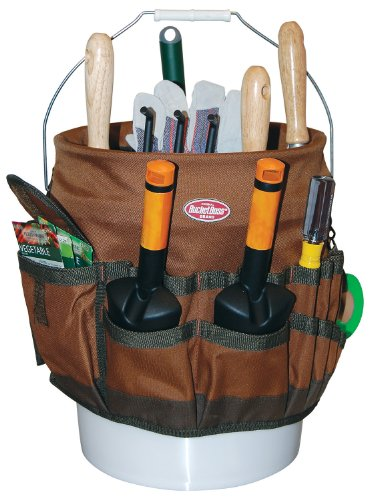 Garden tool organizer bag bucket gallon electrician for Gardening tools organizer