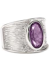 ELLE Jewelry Sterling Silver Amethyst Ring